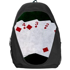 Poker Hands   Straight Flush Diamonds Backpack Bag by FunnyCow