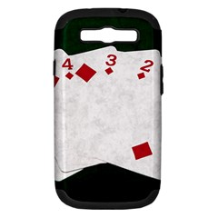 Poker Hands   Straight Flush Diamonds Samsung Galaxy S Iii Hardshell Case (pc+silicone) by FunnyCow