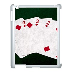 Poker Hands   Straight Flush Diamonds Apple Ipad 3/4 Case (white) by FunnyCow