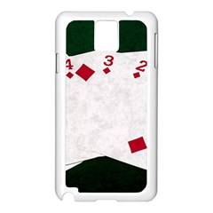 Poker Hands   Straight Flush Diamonds Samsung Galaxy Note 3 N9005 Case (white) by FunnyCow
