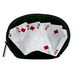 Poker Hands   Straight Flush Diamonds Accessory Pouches (medium)  by FunnyCow