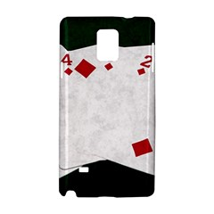 Poker Hands   Straight Flush Diamonds Samsung Galaxy Note 4 Hardshell Case by FunnyCow
