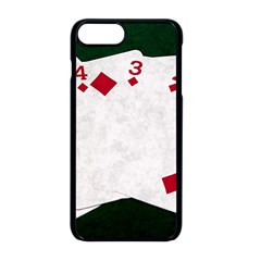 Poker Hands   Straight Flush Diamonds Apple Iphone 8 Plus Seamless Case (black) by FunnyCow