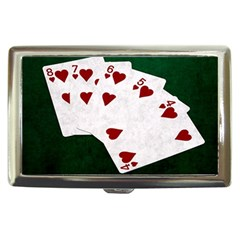 Poker Hands Straight Flush Hearts Cigarette Money Cases by FunnyCow