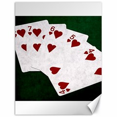 Poker Hands Straight Flush Hearts Canvas 18  X 24   by FunnyCow