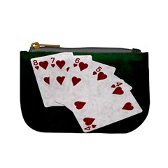 Poker Hands Straight Flush Hearts Mini Coin Purses by FunnyCow