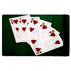 Poker Hands Straight Flush Hearts Apple Ipad 3/4 Flip Case by FunnyCow
