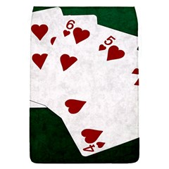 Poker Hands Straight Flush Hearts Flap Covers (s)  by FunnyCow