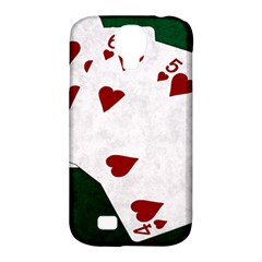 Poker Hands Straight Flush Hearts Samsung Galaxy S4 Classic Hardshell Case (pc+silicone) by FunnyCow