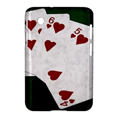 Poker Hands Straight Flush Hearts Samsung Galaxy Tab 2 (7 ) P3100 Hardshell Case  by FunnyCow