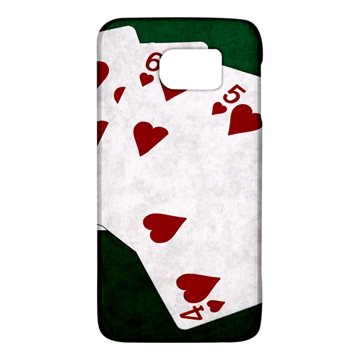 Poker Hands Straight Flush Hearts Samsung Galaxy S6 Hardshell Case