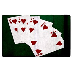Poker Hands Straight Flush Hearts Apple Ipad Pro 9 7   Flip Case by FunnyCow