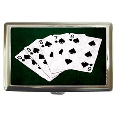 Poker Hands Straight Flush Spades Cigarette Money Cases by FunnyCow