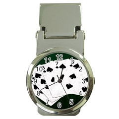 Poker Hands Straight Flush Spades Money Clip Watches by FunnyCow