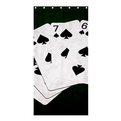 Poker Hands Straight Flush Spades Shower Curtain 36  X 72  (stall)  by FunnyCow