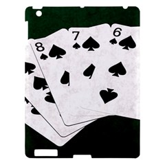 Poker Hands Straight Flush Spades Apple Ipad 3/4 Hardshell Case by FunnyCow