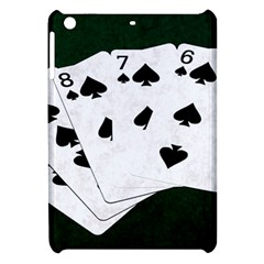 Poker Hands Straight Flush Spades Apple Ipad Mini Hardshell Case by FunnyCow