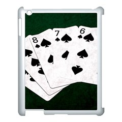 Poker Hands Straight Flush Spades Apple Ipad 3/4 Case (white) by FunnyCow