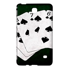 Poker Hands Straight Flush Spades Samsung Galaxy Tab 4 (8 ) Hardshell Case  by FunnyCow