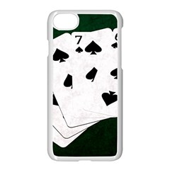 Poker Hands Straight Flush Spades Apple Iphone 8 Seamless Case (white) by FunnyCow