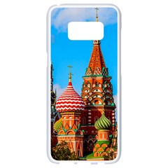 Moscow Kremlin And St  Basil Cathedral Samsung Galaxy S8 White Seamless Case by FunnyCow