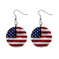 American Usa Flag Mini Button Earrings by FunnyCow