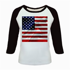 American Usa Flag Kids Baseball Jerseys by FunnyCow