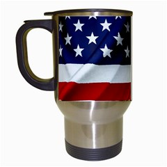 American Usa Flag Travel Mugs (white) by FunnyCow