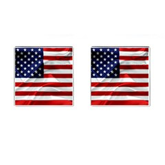 American Usa Flag Cufflinks (square) by FunnyCow