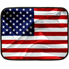 American Usa Flag Double Sided Fleece Blanket (mini)  by FunnyCow