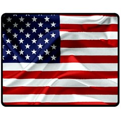 American Usa Flag Fleece Blanket (medium)  by FunnyCow