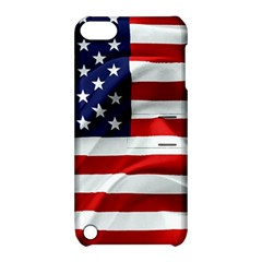 American Usa Flag Apple Ipod Touch 5 Hardshell Case With Stand by FunnyCow