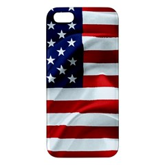 American Usa Flag Apple Iphone 5 Premium Hardshell Case by FunnyCow