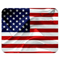 American Usa Flag Double Sided Flano Blanket (medium)  by FunnyCow