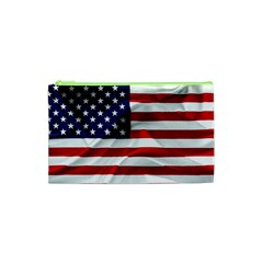 American Usa Flag Cosmetic Bag (xs) by FunnyCow