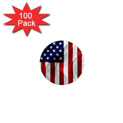 American Usa Flag Vertical 1  Mini Magnets (100 Pack)  by FunnyCow