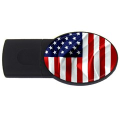 American Usa Flag Vertical Usb Flash Drive Oval (4 Gb) by FunnyCow
