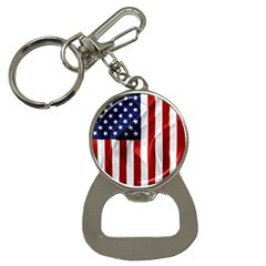 American Usa Flag Vertical Bottle Opener Key Chains by FunnyCow