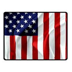 American Usa Flag Vertical Fleece Blanket (small) by FunnyCow