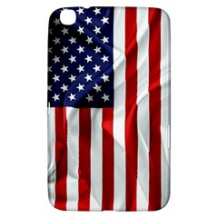 American Usa Flag Vertical Samsung Galaxy Tab 3 (8 ) T3100 Hardshell Case  by FunnyCow