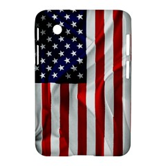 American Usa Flag Vertical Samsung Galaxy Tab 2 (7 ) P3100 Hardshell Case  by FunnyCow