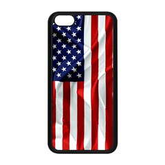 American Usa Flag Vertical Apple Iphone 5c Seamless Case (black) by FunnyCow