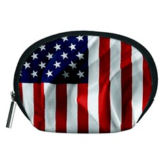 American Usa Flag Vertical Accessory Pouches (medium)  by FunnyCow