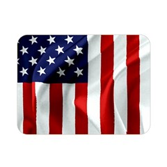 American Usa Flag Vertical Double Sided Flano Blanket (mini)  by FunnyCow