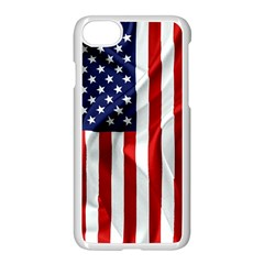 American Usa Flag Vertical Apple Iphone 8 Seamless Case (white) by FunnyCow