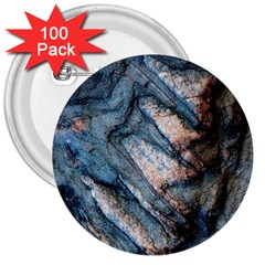 Earth Art Natural Rock Grey Stone Texture 3  Buttons (100 Pack)  by CrypticFragmentsDesign