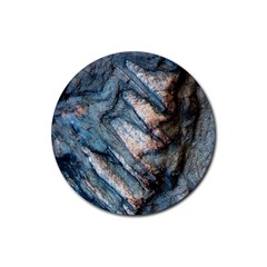 Earth Art Natural Rock Grey Stone Texture Rubber Coaster (round)