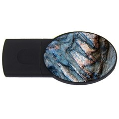 Earth Art Natural Rock Grey Stone Texture Usb Flash Drive Oval (2 Gb) by CrypticFragmentsDesign