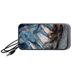 Earth Art Natural Rock Grey Stone Texture Portable Speaker by CrypticFragmentsDesign