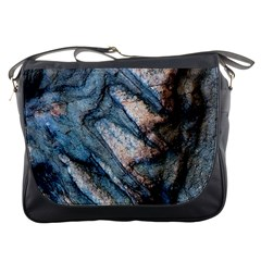 Earth Art Natural Rock Grey Stone Texture Messenger Bags by CrypticFragmentsDesign